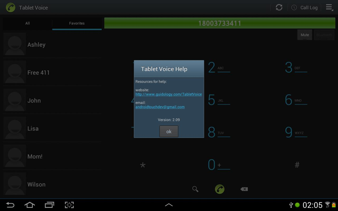 Tablet Voice - VoIP Phone - screenshot
