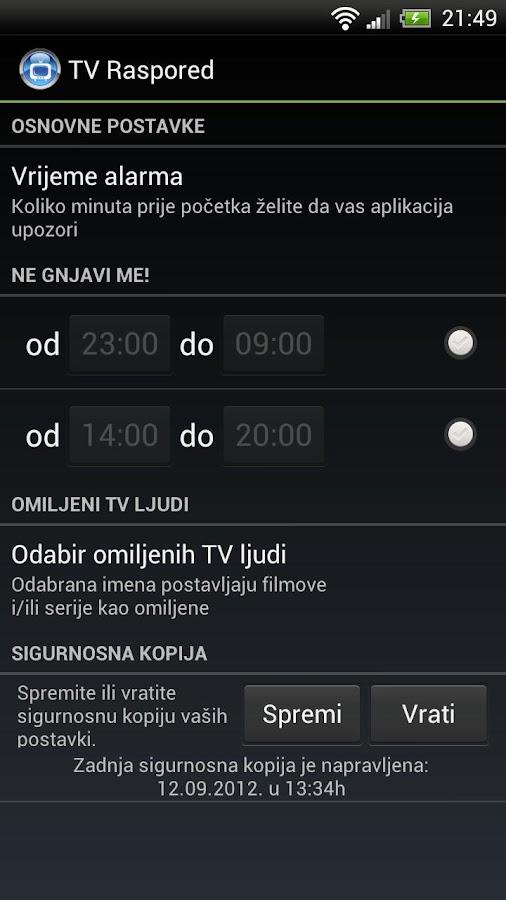 Tv Raspored