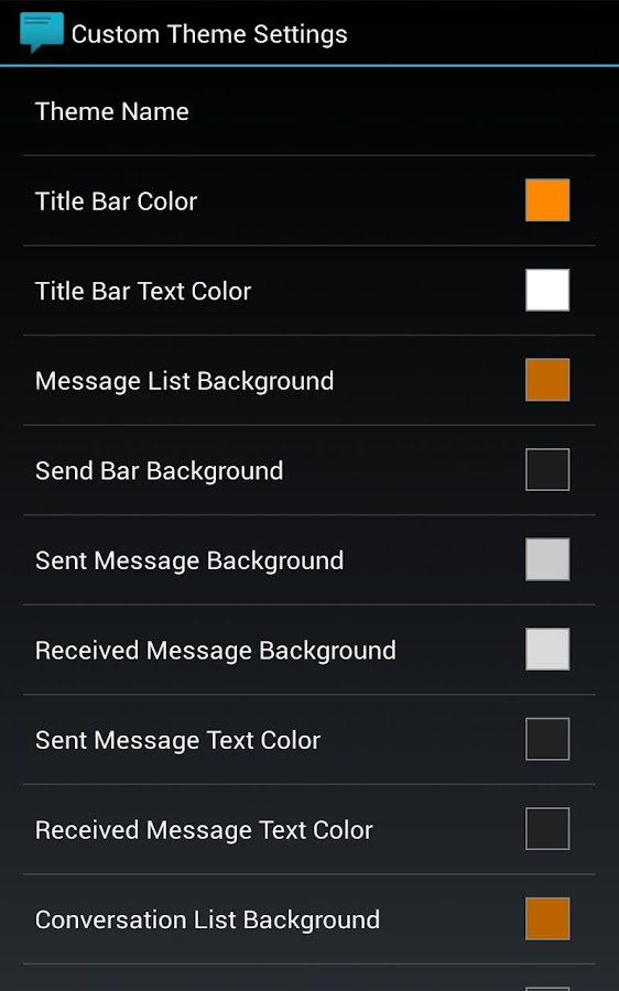 Sliding Messaging Theme Engine - screenshot