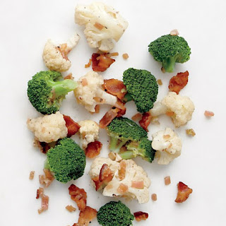 Broccoli and Cauliflower with Bacon Vinaigrette
