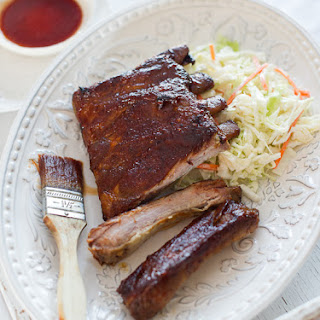 Bourbon-Maple Glazed Pork Ribs.