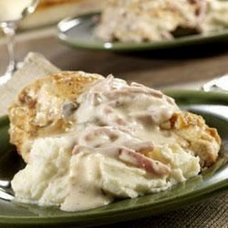 Baked Chicken with Ham Gravy