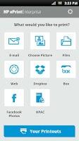 Screenshot of HP ePrint Enterprise (service)