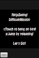 Screenshot of NinjaSwingDifficultMission