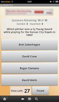 Screenshot of Baseball Trivia