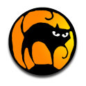 Halloween Black Cat Clock icon