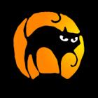 Halloween Black Cat Clock icon
