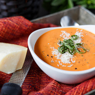 Quick and Easy Creamy Tomato - Basil Soup