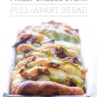 Philly Cheese Steak Pull Apart Bread.