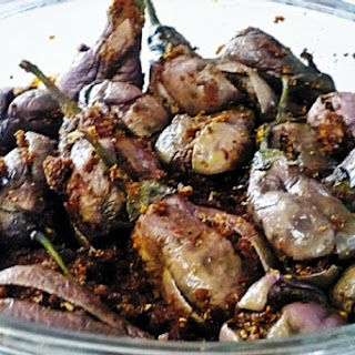 Brinjal With Walnut Dressing
