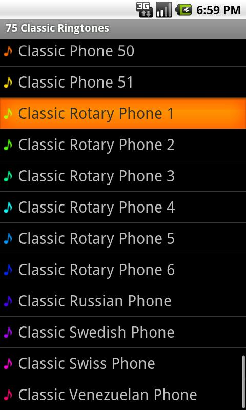 75 Classic Ringtones - screenshot