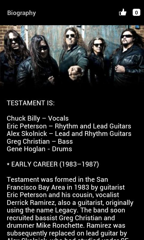 Testament- screenshot