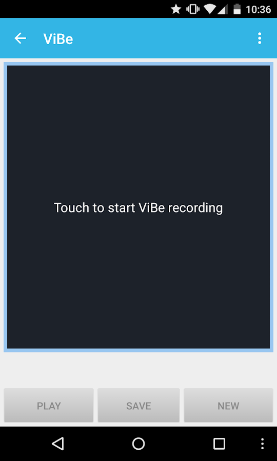 ViBe - screenshot