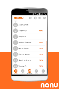 nanu - free calls for everyone - screenshot thumbnail