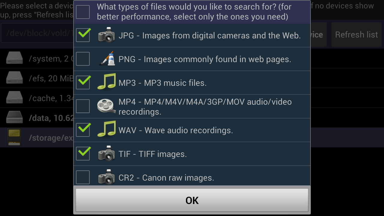 DiskDigger Pro (root) - screenshot