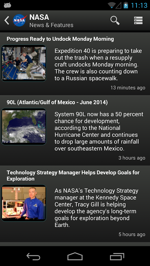 NASA App- screenshot