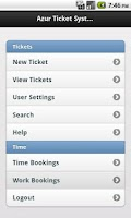 Screenshot of Ticketsystem