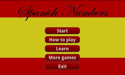 Learning Spanish numbers - screenshot thumbnail