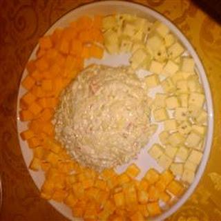 Devil Crab Cream Cheese Ball.