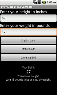 SapphApps BMI Calculator - screenshot thumbnail
