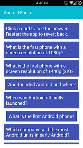 Android Fun Facts