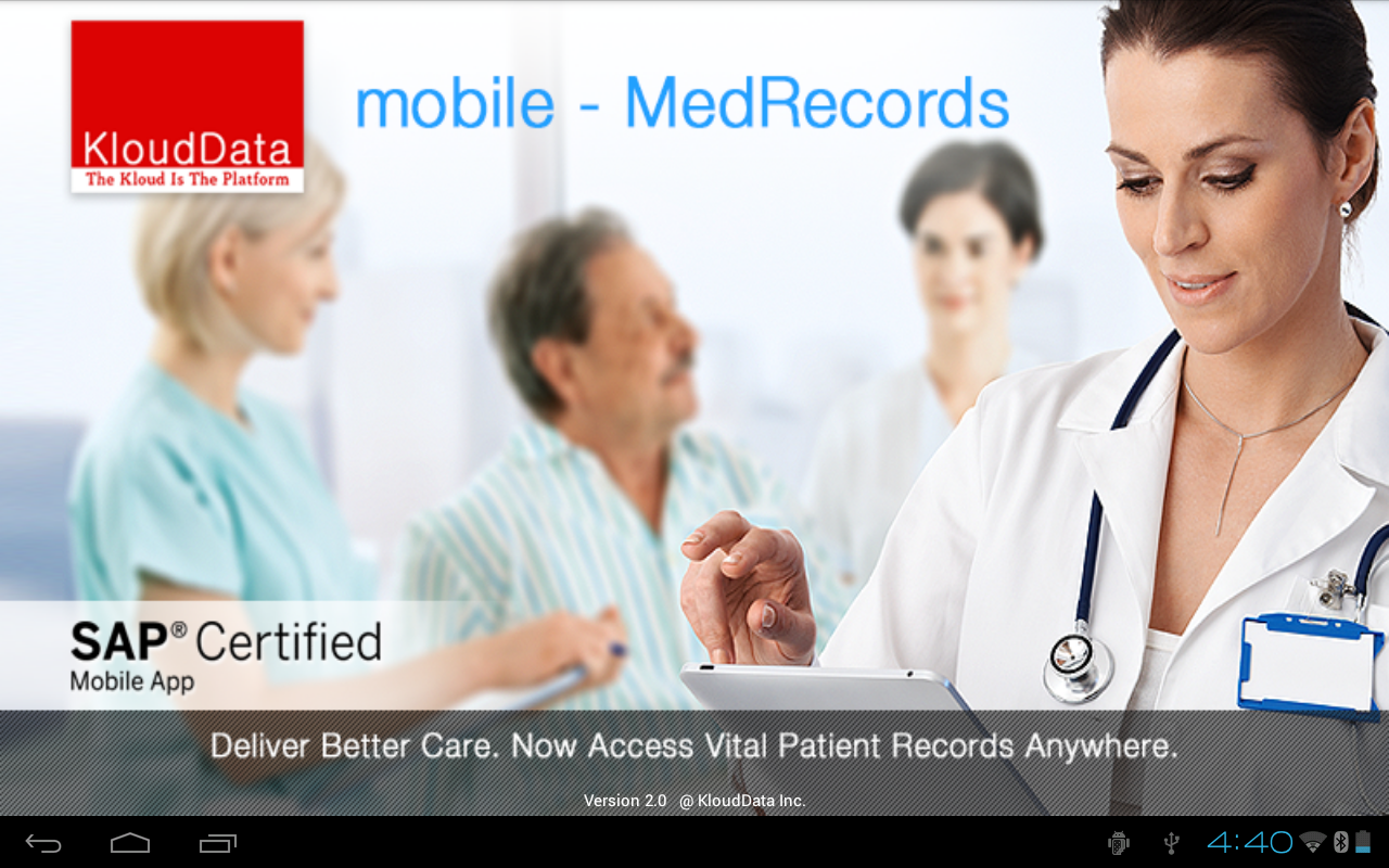 mMR (mobile Medical Records): captura de tela