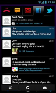 BlingBoard: Social Widget Screenshot 1