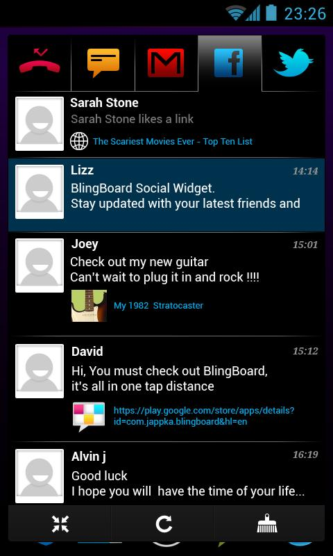 BlingBoard: Social Widget- screenshot
