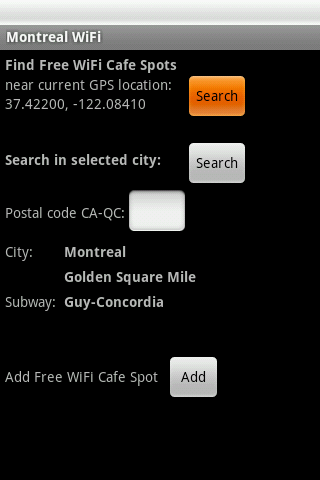 Montreal Free WiFi- screenshot