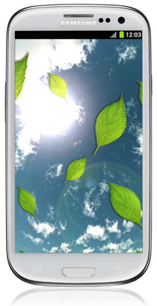 Beautiful Leaves LWP - screenshot