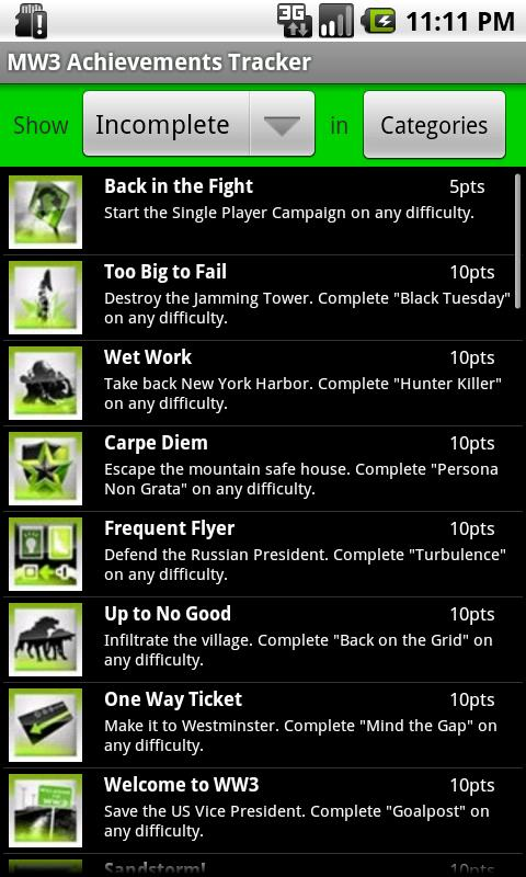 MW3 Title Tracker - screenshot