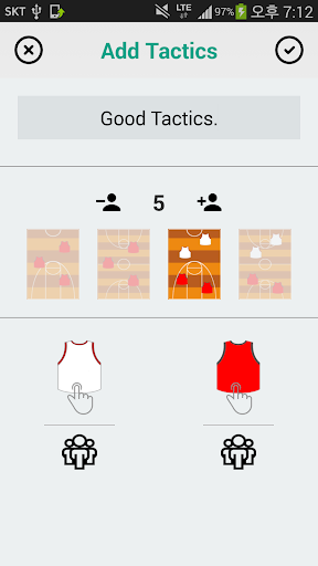 Basketball Board - Manage team