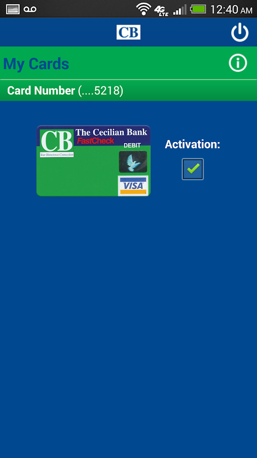 The Cecilian Bank Mobile App- screenshot