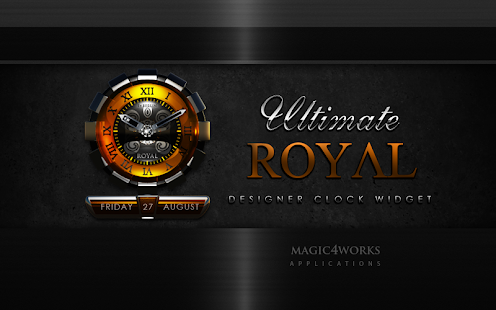 clock widget ROYAL designer