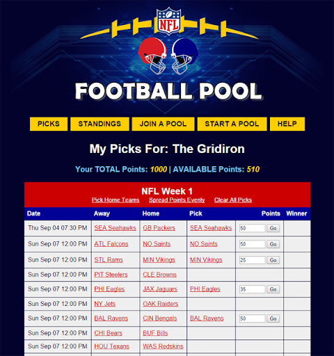 NFL Pool Office Football Pool