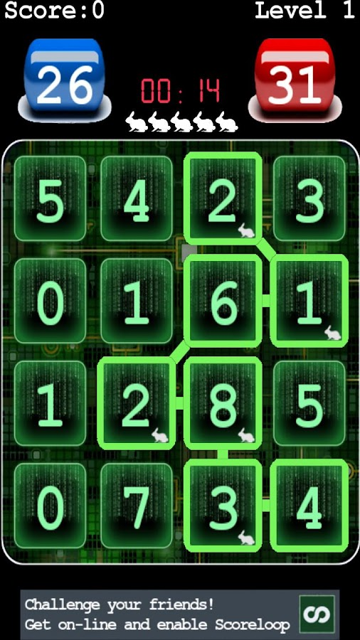 Sum Matrix Numbers Puzzle - screenshot