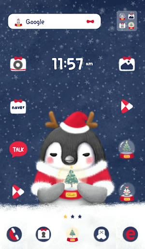 힙펭 hello winter 도돌런처 테마