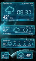 Screenshot of OUTERSPACE THEME GO WEATHER EX