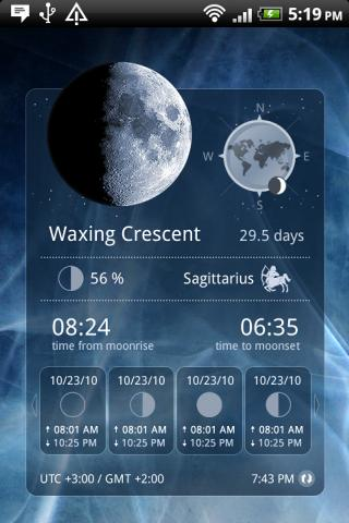Moon Widget Deluxe - screenshot