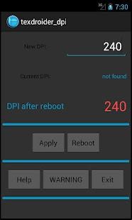 Texdroider DPI- screenshot thumbnail