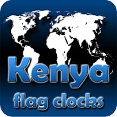 Kenya flag clocks