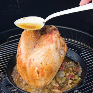 """""""Beer Can"""" Turkey Breast with BBQ Gravy"""