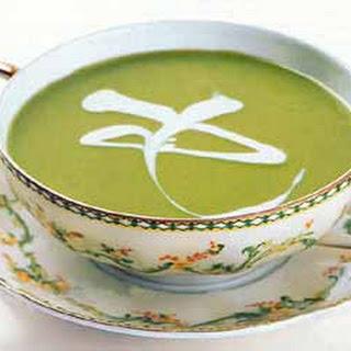 Pea Soup with Crème Fraîche