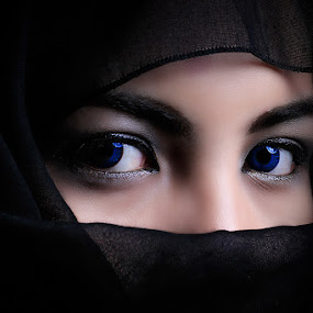 Blue Eyes Hijabers by Ruedix Photoworks - People Portraits of Women ( animals.black & white.flowers.nude.landscapes. )