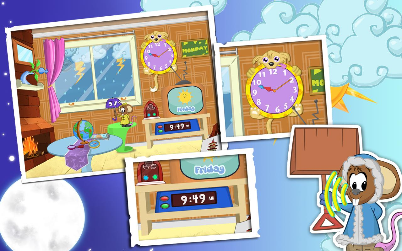 Weather and Clock for Kids - screenshot
