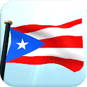 Puerto Rico Flag 3D Free icon