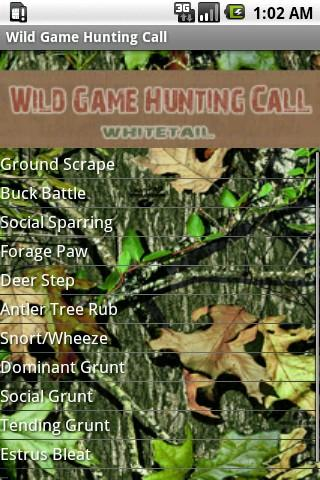 Wild Game Hunting Call- screenshot