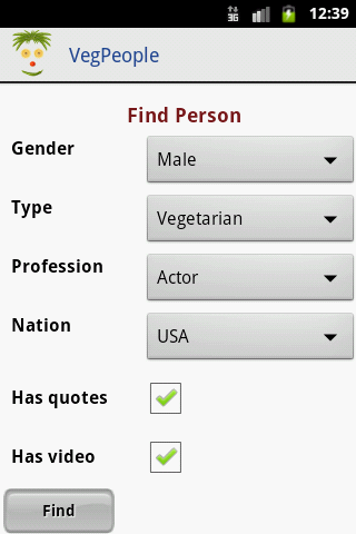 VegPeople - Famous Vegetarian - screenshot