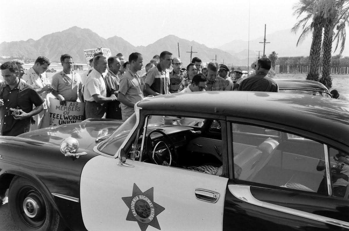 Hagerty's Desert Meeting With Steel Workers
