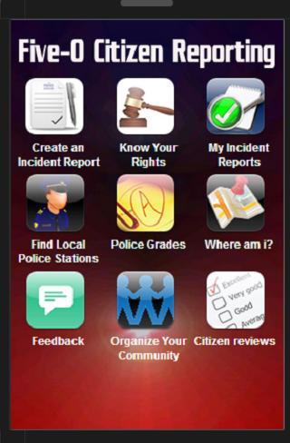 Five-O Police Rating App 1.2- screenshot